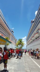 Arriving in cruise port of call nassau, bahamas